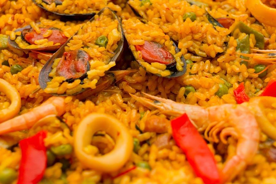 Paella casera